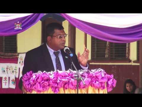Fijian Minister for Education, Hon. Dr Mahendra Reddy opens new classroom block.
