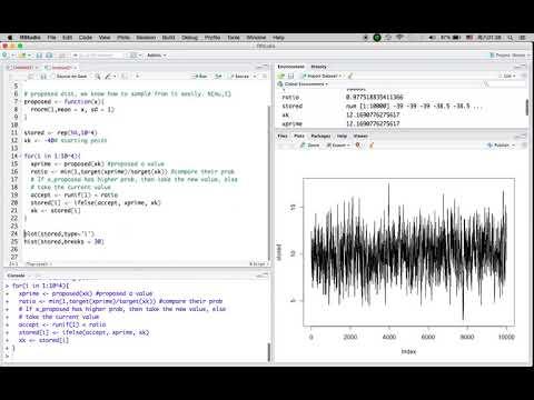 R Tutorial 32: Markov Chain Monte Carlo (MCMC) - Metropolis Algorithm