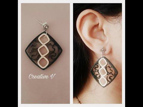How To Make Quilling Earrings / Tutorial / Design 17