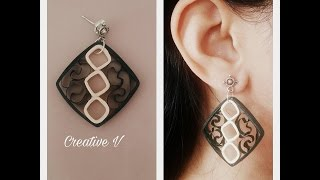 How To Make Quilling Earring Tutorial /Design 17