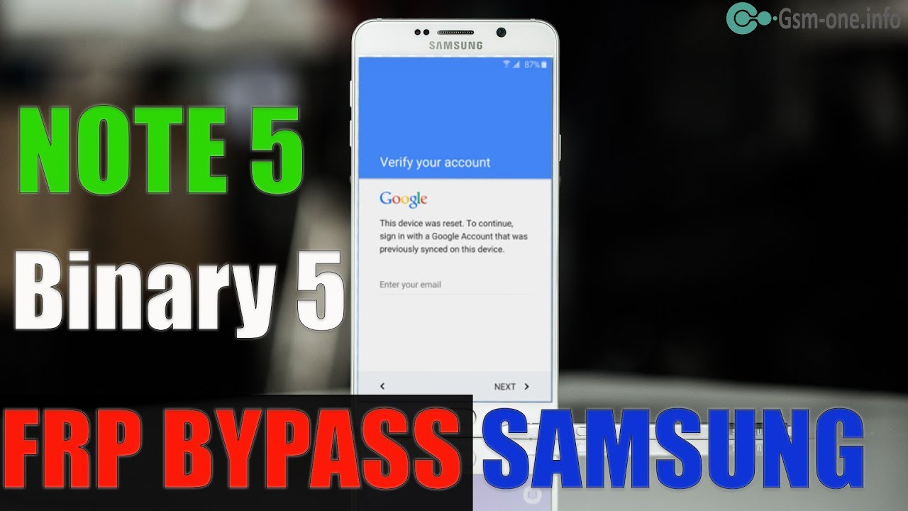 How to bypass Google Account Samsung Galaxy Note 5 (SM-N920