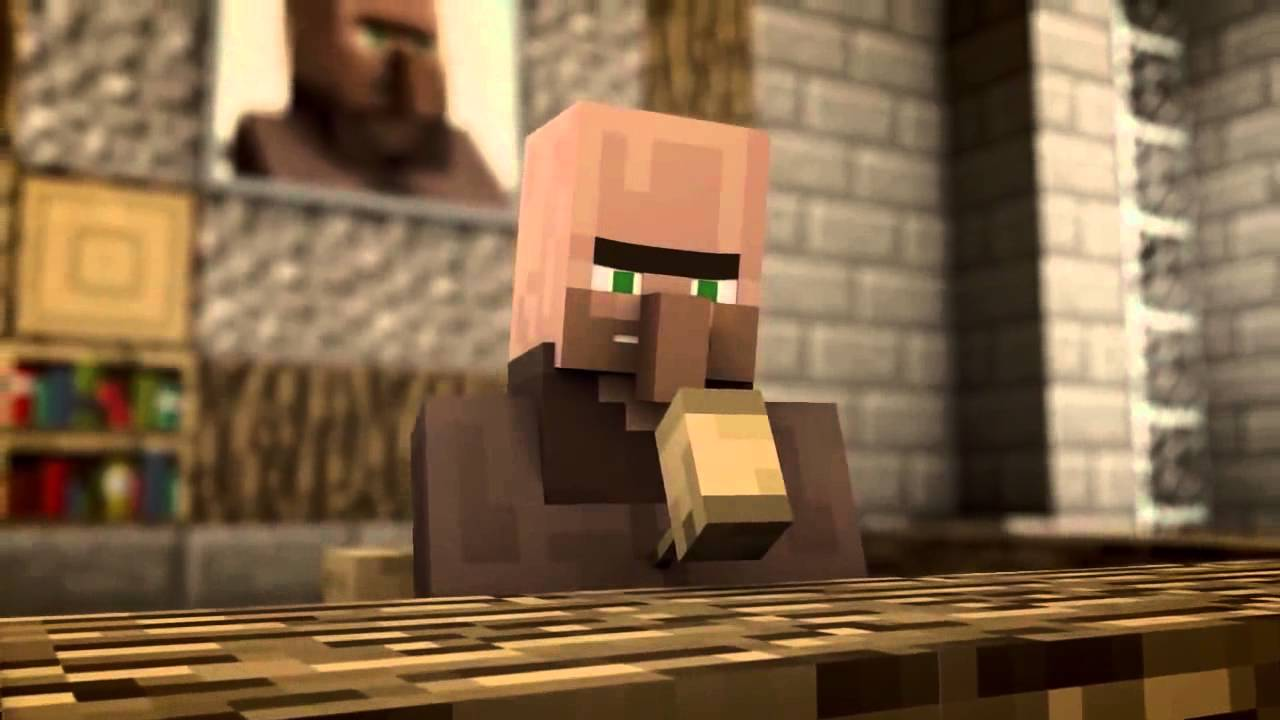 Minecraft Animation Villager News RUS