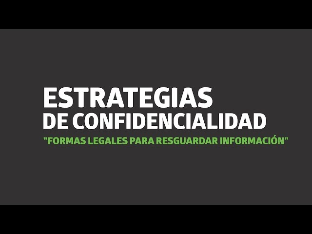 Estrategias de confidencialidad   UTEL Universidad
