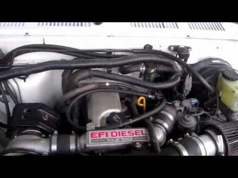Toyota 2L-TE Turbo Diesel 1995 Ex Cab - YouTube