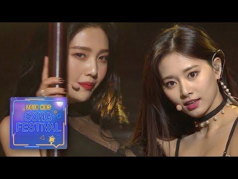 SPECIAL STAGE 2 - Hush (JOY + TZUYU + YeonWoo + Mijoo + Sowon + JIHO) [2018 KBS Song Festival]