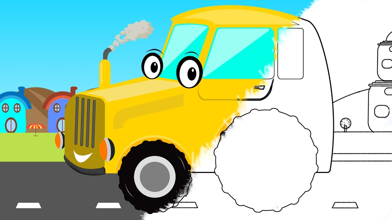 Tractor | Coloring Book | Farm Vehicle | Learn Colors - YouTube