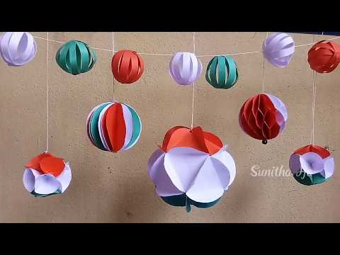DIY|Easy Tricolor Hanging Paper Ball Decoration Kids Craft Ideas|Independence Day Special 2019