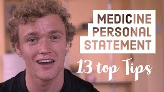 How to write a Medicine Personal Statement - 13 tips
