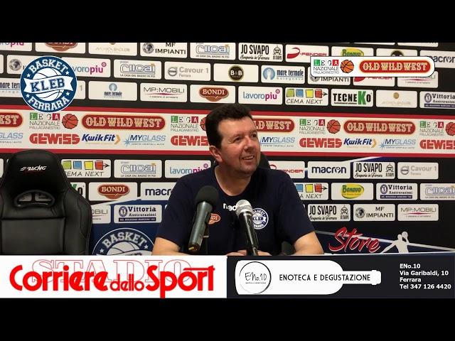 Coach Leka nel dopo Piacenza