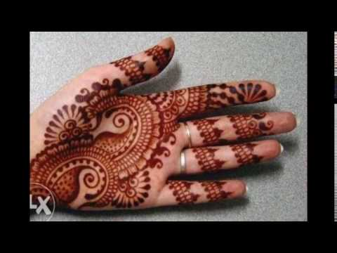 Model Henna Simple Di Telapak Tangan
