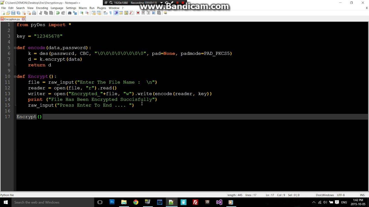 python  encryption code