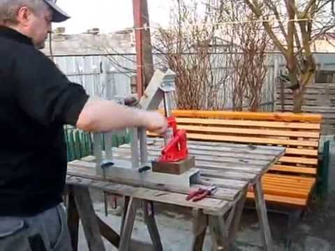 видео: трубогиб самодельный/homemade device for bending tubes and bars