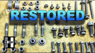HOW TO RESTORE YOUR HARDWARE - CLEANING JEEP CHEROKEES NUTS and BOLTS