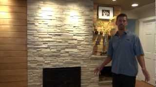 Mcqueen Design & Build - Old 50's Home's Wall Turned Into Beautiful Fireplace