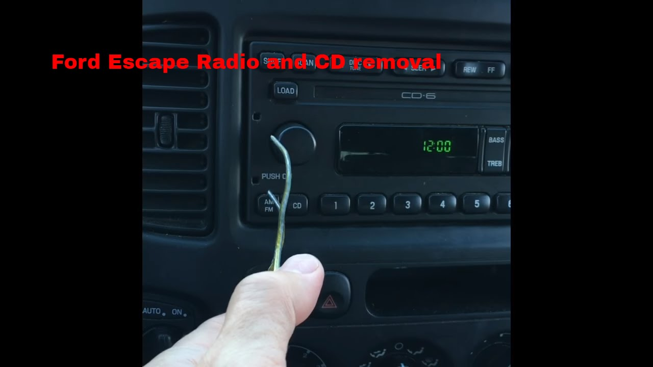 Ford Com Mx >> Ford Escape 2002 Radio and 6 CD Changer Removal & Repair ...
