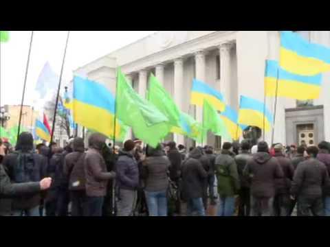Акція на підтримку повної економічної блокади ОРДЛО та законопроекту про статус окупованих територій