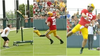 Aaron Rodgers LAUNCHES AN UNREAL THROW Into DEEP Target ? ?