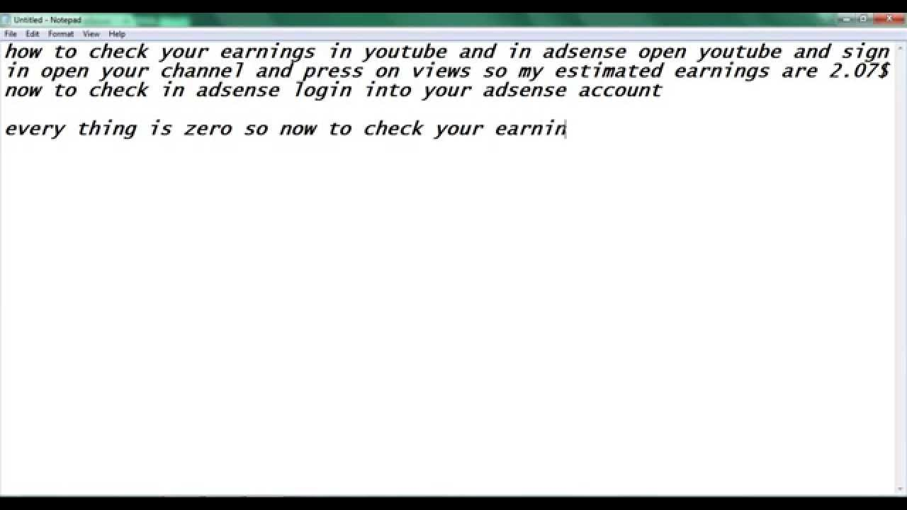 how to see estimated earnings in adsense and also youtube ...