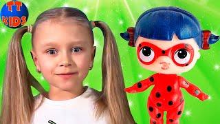 Куклы ЛОЛ ЛЕДИ БАГ, СУПЕР КОТ Распаковка и Обзор от Ярославы Видео для детей