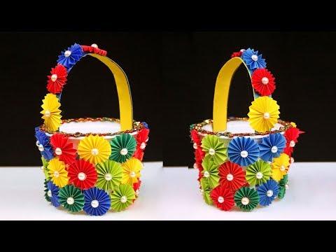 Diy Basket Easy Best Out Of Waste Popsicle Sticks Craft Idea