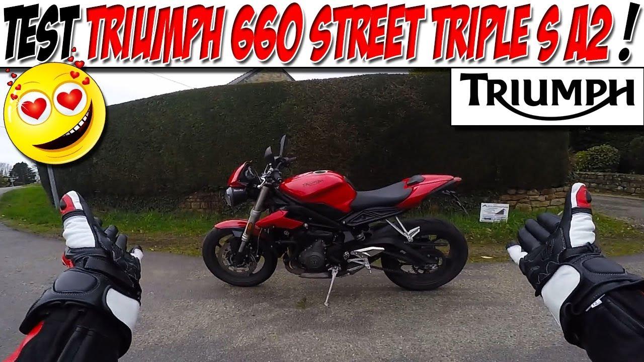moto vlog 122 test triumph street triple 660 s a2 le coup de coeur a2 youtube. Black Bedroom Furniture Sets. Home Design Ideas