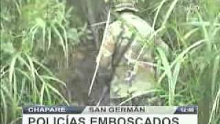 EMBOSCADA A POLICIAS EN EL CHAPARE @ RED PAT BOLIVIA