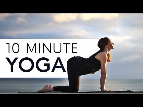 Morning Yoga at the Beach (10 Min Stretch) For Energy!