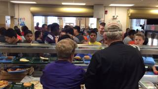 Manatee Schools Superintendent Rick Mills Serves Food In Cafeteria