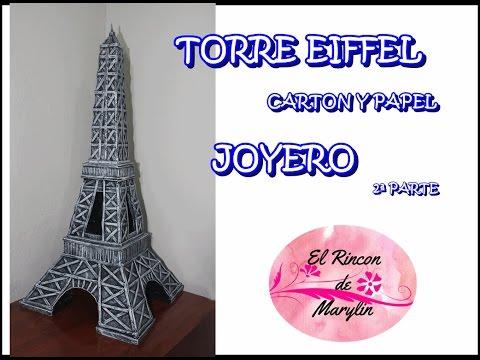 Decorativa Torre JoyeroEl Eiffel Con Hacer Rincon Marylin Y Papel2 ParteDiy Como De Carton y0wOmNv8nP