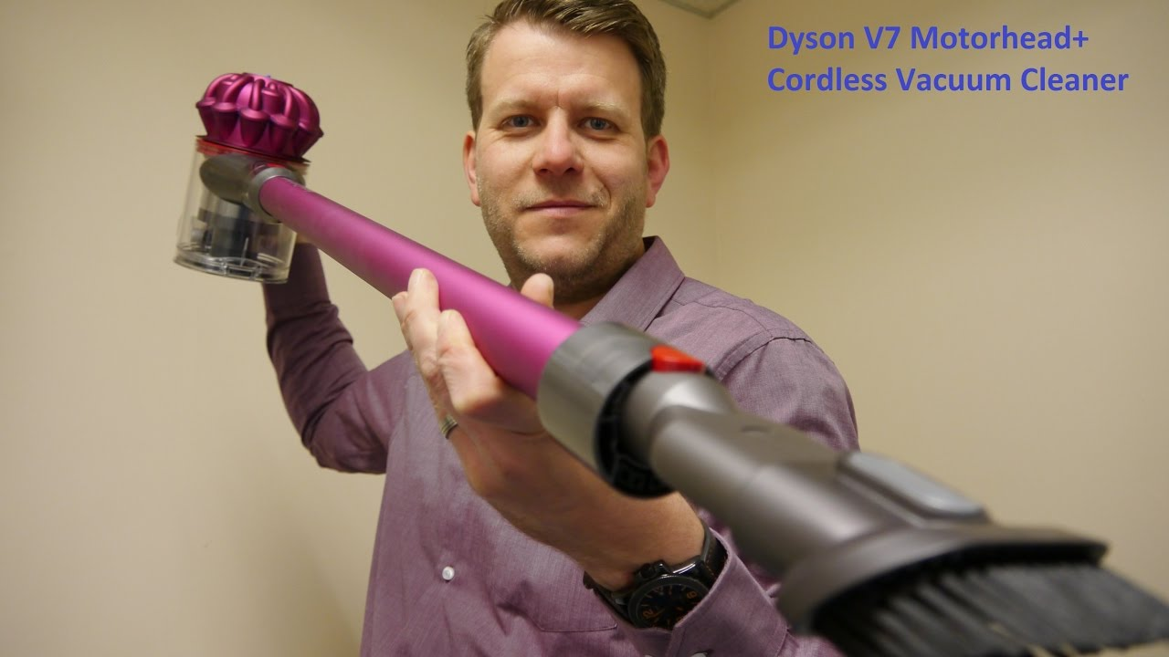 dyson v7 motorhead cordless vacuum cleaner youtube. Black Bedroom Furniture Sets. Home Design Ideas