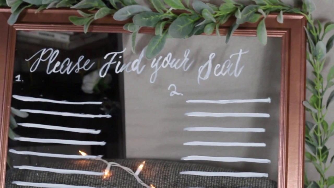 DIY Wedding seating chart sign - Non Traditional Bride on a budget ...