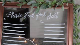 DIY Wedding seating chart sign - Non Traditional Bride on a budget
