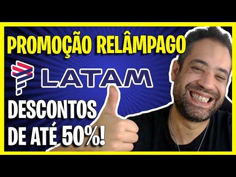 ATÉ 50% DE DESCONTO EM PASSAGENS! (PROMOÇÃO RELÂMPAGO LATAM) DE HOJE!