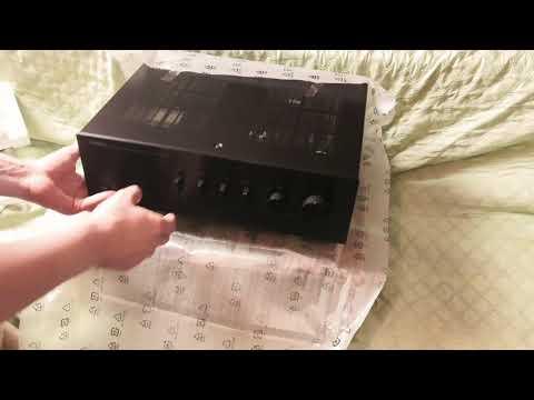 Интегральный усилитель YAMAHA A-S701 распаковка и  прослушивание на YAMAHA  NS-777 . 4к.
