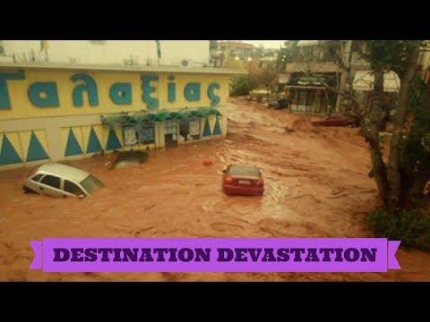 Destructive flash floods rage through Athens! Many missing, massive damage!