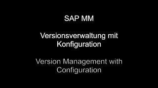 Yapılandırma ile SAP MM - Sürüm Yönetimi