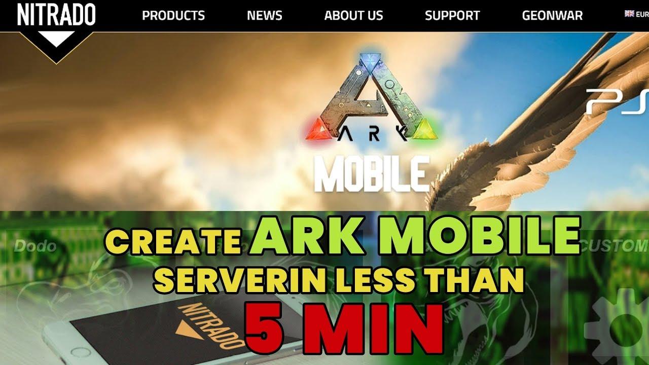 [HINDI] How to create India Ark mobile server in less than 5 min #ARkindia  #ArkServer #Nitrado