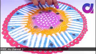 5 Beautiful & Easy Rangoli Designs for Diwali using tea cups | Artkala