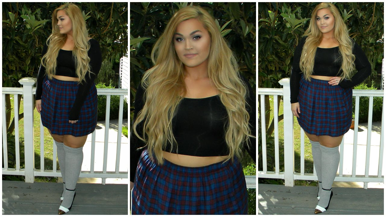 Crop Top & High-Waisted Skirt OOTD | Plus-Size - YouTube