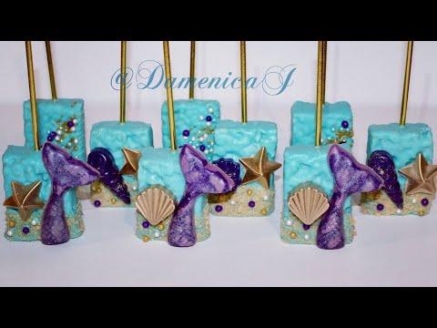 Mermaid Theme Part 1: Chocolate Covered Rice Krispies