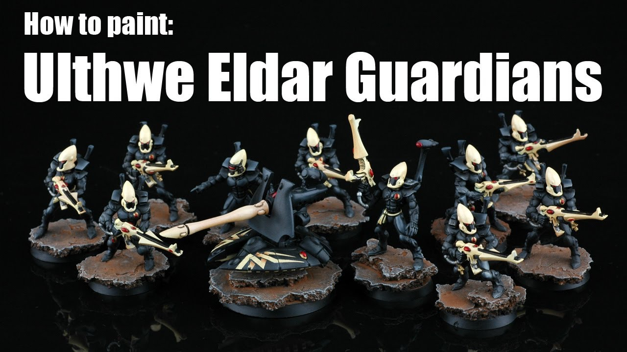 How to paint Ulthwe Eldar Guardians  YouTube