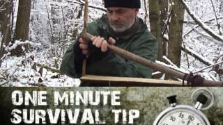 Camp alarm system - one minute survival tip
