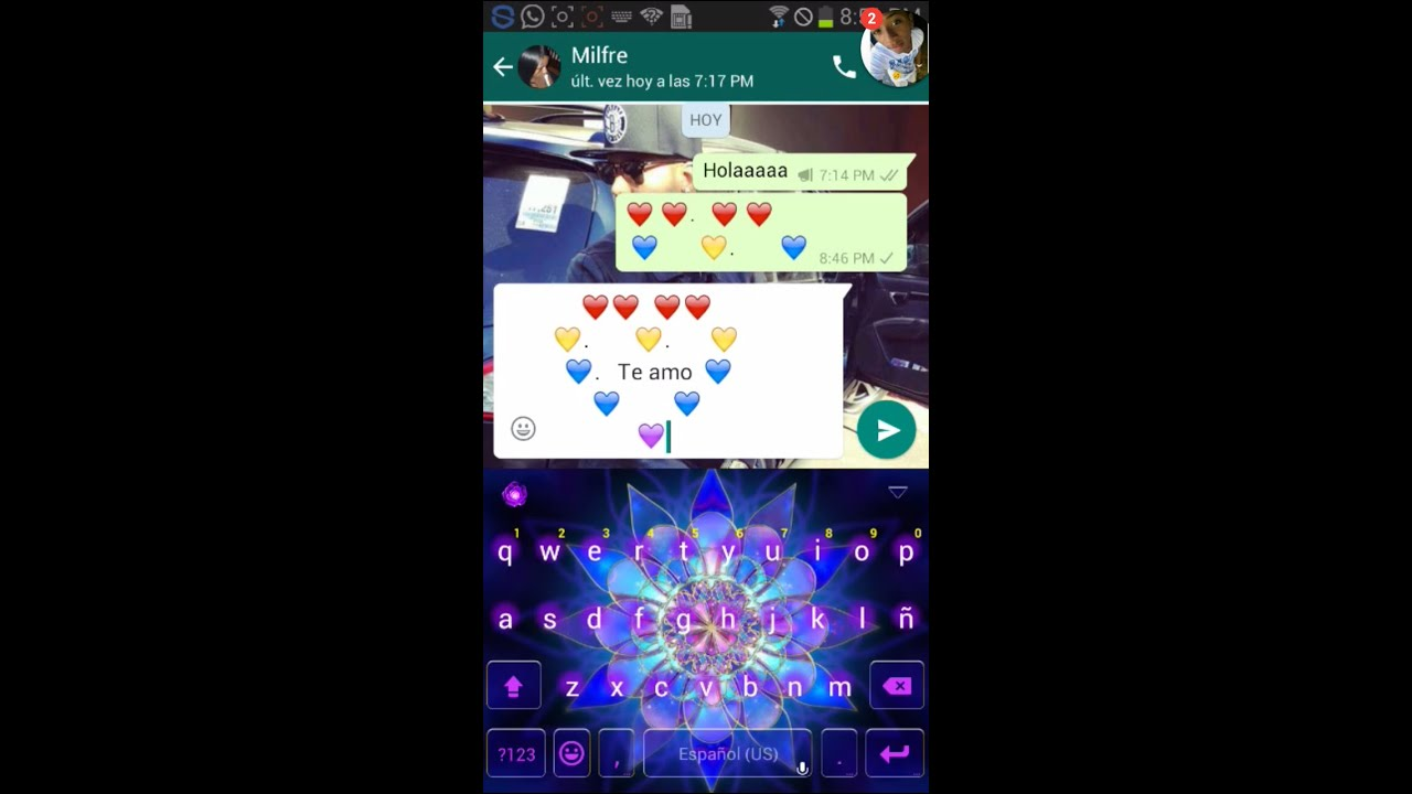 como hacer un corazon de corazones por whatsapp  YouTube