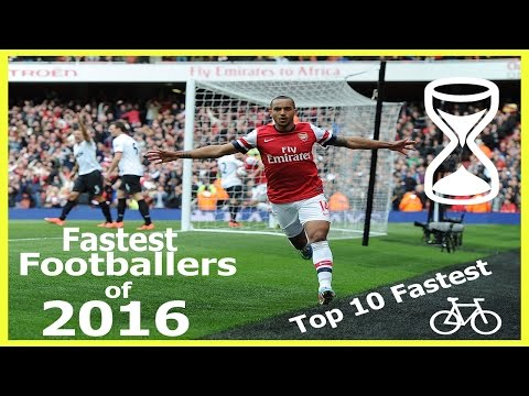 Top 10 fastest football players 2016 with KM/H and MPH included!
