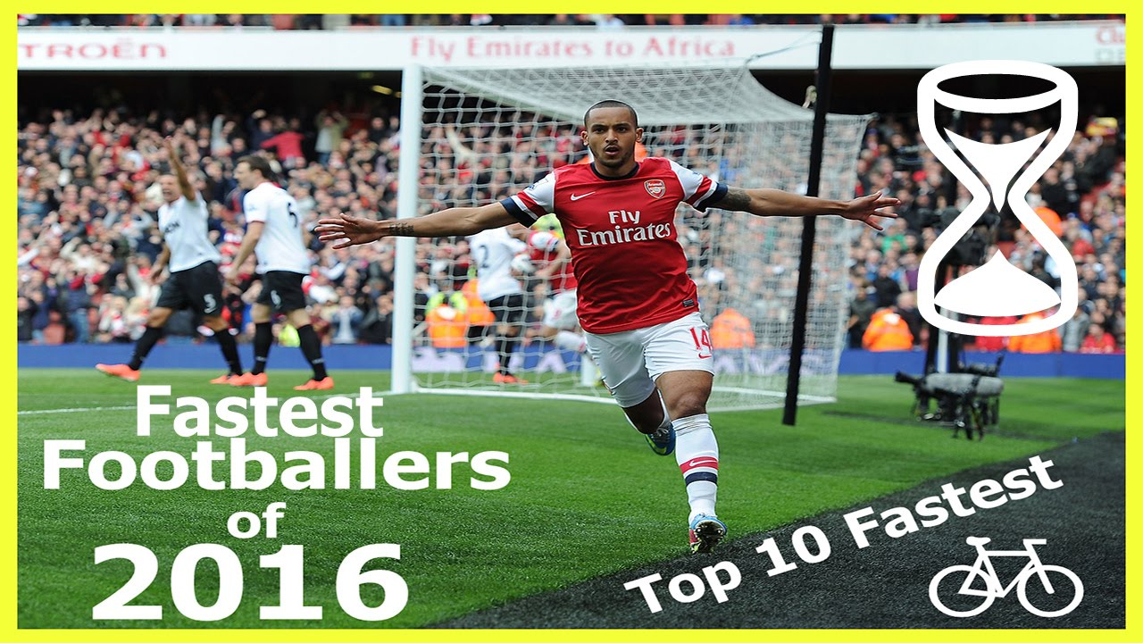 Top 10 Fastest Football Players 2016 With Km H And Mph