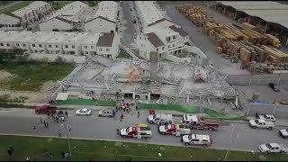 Derrumbe de construcción en Cumbres del Sol en Monterrey deja 3 muertos