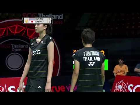 SCG Thailand Open 2016 | Badminton SF M1-WD | Sup/Tae vs Kas/Kato