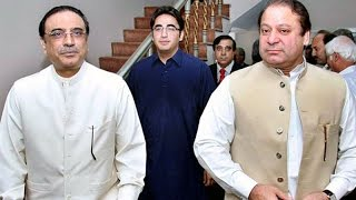 Zardari with his son Bilawal Bhutto and Prime Minister Nawaz Sharif