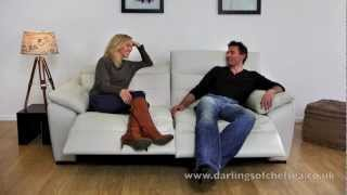 Darlings Of Chelsea | Leather Electric Recliner Demonstration