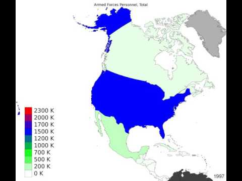 North America - Armed Forces Personnel, Total - Time Lapse